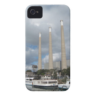 Morro Bay Fishing Boats and Smokestacks iPhone 4 Case-Mate Case