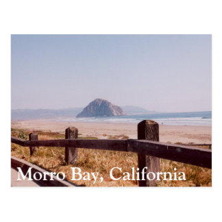 Morro Bay Morro Rock Central California Post Card