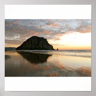 Morro Bay Rock Poster