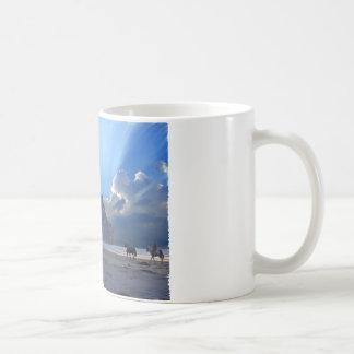 Morro Rock and Horses Coffee Mug