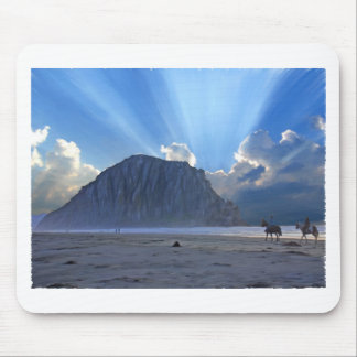 Morro Rock and Horses Mouse Pad