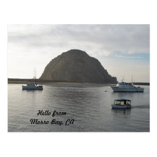 Morro Rock at Morro Bay, CA Postcard