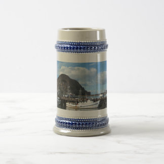 Morro Rock, Fishing Boats and the Embarcadero Beer Stein
