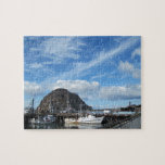 """Morro Rock, Fishing Boats and the Embarcadero Jigsaw Puzzle<br><div class=""""desc"""">This is a Morro Bay scene that has everything but the smokestacks. If you want the smokestacks,  we have design that includes them,  as well.</div>"""