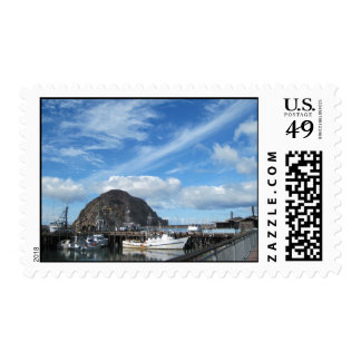 Morro Rock, Fishing Boats and the Embarcadero Postage
