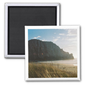 Morro Rock from the Dunes Square Magnet