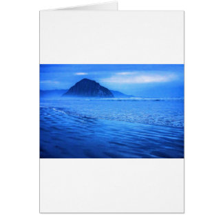 Morro Rock with seascape and sand Greeting Card