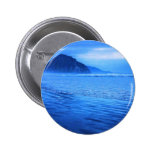 Morro Rock with seascape and sand Pinback Button
