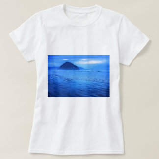 Morro Rock with seascape and sand T-Shirt