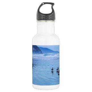 Morro Rocks at Dusk Stainless Steel Water Bottle