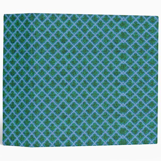 Morrocan Inspired in Blue and Green Binder