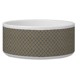 Morrocan Inspired in Brown, Pale Green, Dark Teal Pet Food Bowls