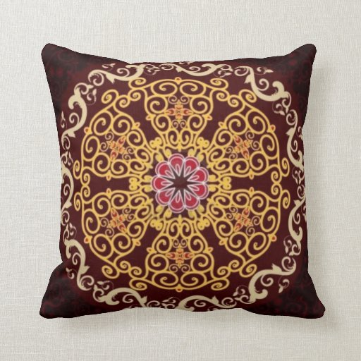 Decorative Pillow Sewing Pattern : Morrocan Pattern Decorative Pillow Zazzle