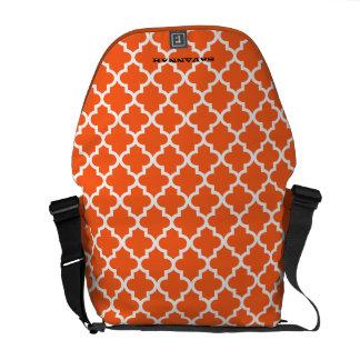 Morrocan Tile Pattern You Choose Colors Courier Bag