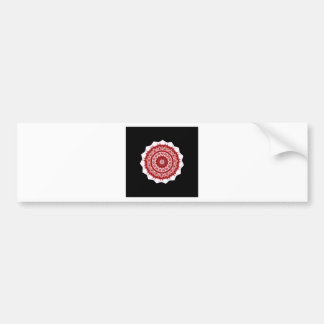 Morrocco red and white tile design bumper sticker