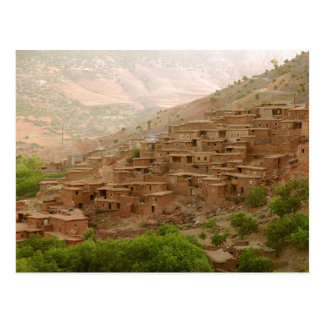 Morroco Berber village Postcard