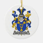 Morrow escudo de la familia adorno