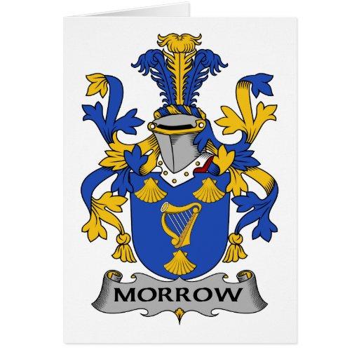 Morrow escudo de la familia felicitación