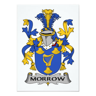 Morrow Family Crest Card