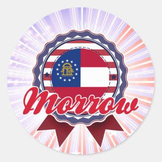 Morrow, GA Round Stickers