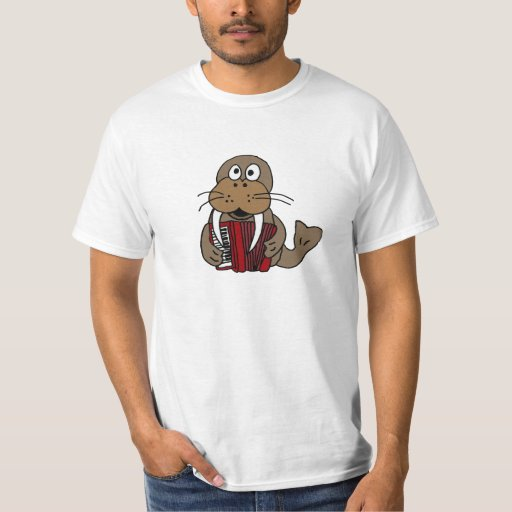 Morsa AF que juega la camisa del dibujo animado