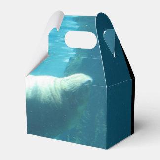 Morsa de la natación cajas para detalles de boda