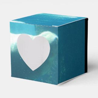 Morsa de la natación cajas para regalos de boda