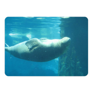 Morsa de la natación invitación 12,7 x 17,8 cm