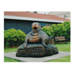 Morsa de madera de Long Beach Wa Tarjetas Postales
