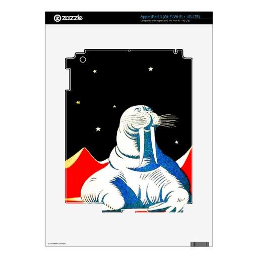 Morsa del astronauta del espacio pegatinas skins para iPad 3