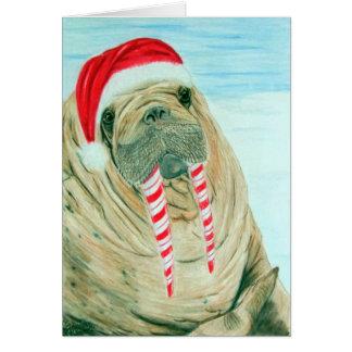 Morsa del navidad tarjeta de felicitación