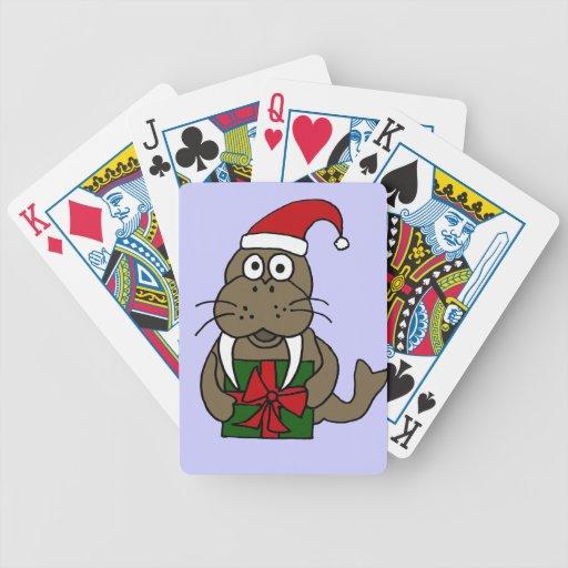 Morsa divertida XY que lleva naipes del gorra de S Baraja Cartas De Poker