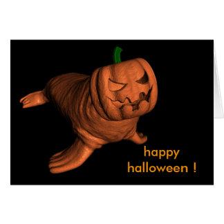 Morsa extraña de Halloween Tarjeta De Felicitación