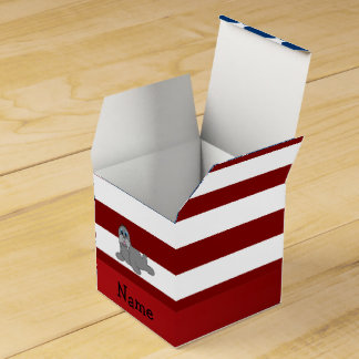 Morsa patriótica conocida personalizada caja para regalos
