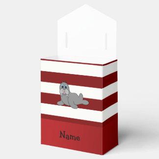 Morsa patriótica conocida personalizada cajas para regalos de fiestas