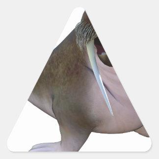 Morsa Pegatina Triangular