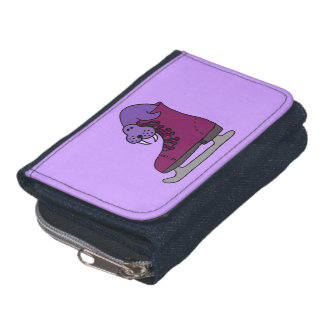 Morsa púrpura en patín de hielo