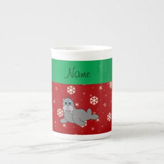 Morsa roja conocida personalizada del copo de taza de porcelana