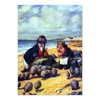 Morsa y el carpintero invitación 12,7 x 17,8 cm