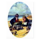 Morsa y el carpintero tarjeta postal
