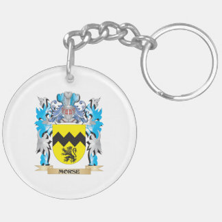 Morse Coat of Arms - Family Crest Double-Sided Round Acrylic Keychain