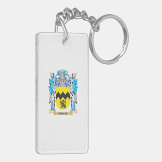 Morse Coat of Arms - Family Crest Double-Sided Rectangular Acrylic Keychain