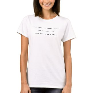 Morse code: Black lives matter. T-Shirt
