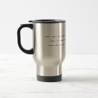 Morse code: Black lives matter. Travel mug. Travel Mug