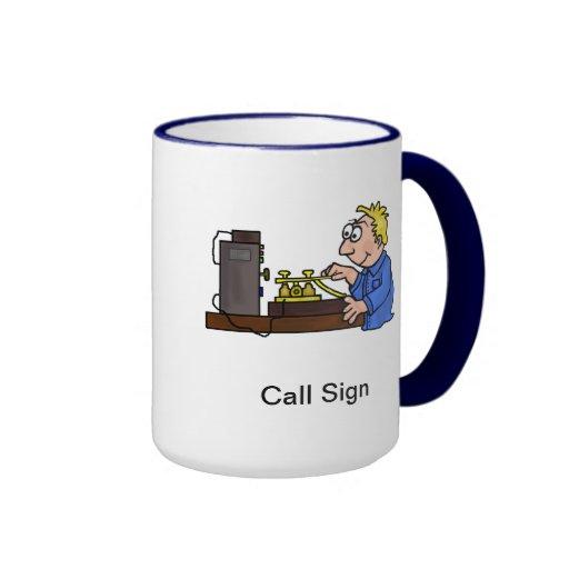 Morse Code Blonde Male Operator Mug  Customize It!