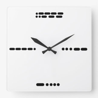 Morse Code Clock   3, 6, 9, 12