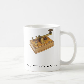 Morse Code Cofee Cup Classic White Coffee Mug