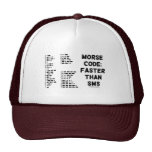 Morse Code: Faster Than SMS (International Morse) Hats