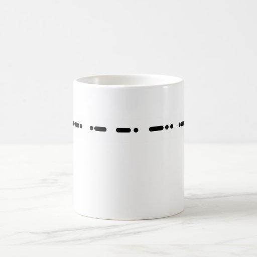 Morse Code Grandpa  Customizeable Mug