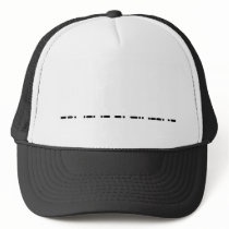 "Morse Code ""Grandpa"" Hat Customizeable"